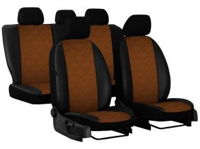 Autostoelhoezen op maat Leer (met patroon) AUDI Q7 II 7m. (2015-2020)