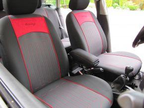 Autostoelhoezen op maat met stikselpatroon FORD TRANSIT CUSTOM 9m (2013-2019)