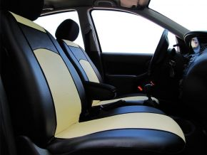 Autostoelhoezen op maat Leer FIAT 500