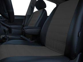 Autostoelhoezen op maat Leer (met patroon) FORD TRANSIT CUSTOM 9m (2013-2019)