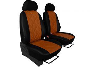 Autostoelhoezen op maat Leer (met patroon) CITROEN C15 1+1 (1984-2003)