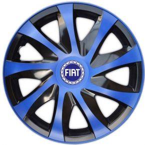 """Wieldoppen FIAT BLUE 15"""", DRACO blauw 4 stuks"""