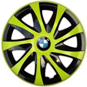 """Wieldoppen BMW 14"""", DRACO groen 4 stuks"""