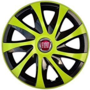 """Wieldoppen FIAT 15"""", DRACO groen 4 stuks"""