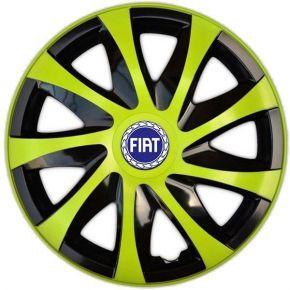 """Wieldoppen FIAT BLUE 14"""", DRACO groen 4 stuks"""