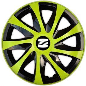 """Wieldoppen SEAT 15"""", DRACO groen 4 stuks"""