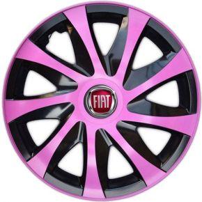 """Wieldoppen FIAT 16"""", DRACO pink 4 stuks"""