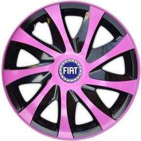 """Wieldoppen FIAT BLUE 15"""", DRACO pink 4 stuks"""