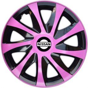 """Wieldoppen NISSAN 14"""", DRACO pink 4 stuks"""