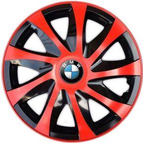 """Wieldoppen BMW 14"""", DRACO rood 4 stuks"""