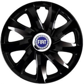 "Wieldoppen FIAT 16"", DRIFT zwart gelakt 4 stuks"