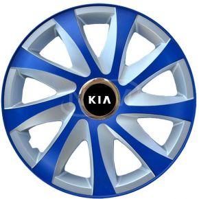 """Wieldoppen voor KIA 15"""", DRIFT EXTRA blue-silver  4 stuks"""