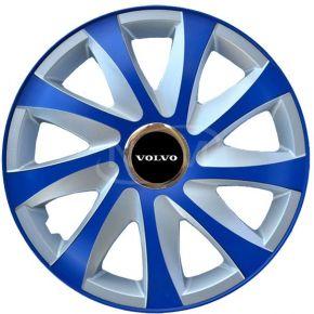 """Wieldoppen voor VOLVO 14"""", DRIFT EXTRA blue-silver  4 stuks"""
