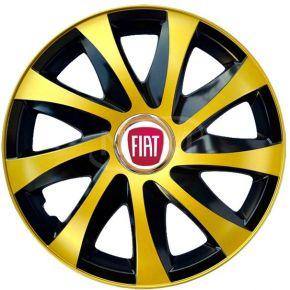 """Wieldoppen voor FIAT 15"""", DRIFT EXTRA goud 4 stuks"""