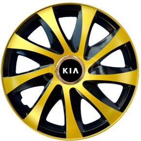 """Wieldoppen voor KIA 15"""", DRIFT EXTRA goud 4 stuks"""