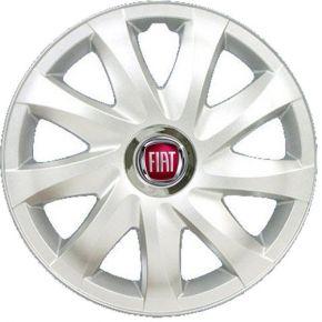 "Wieldoppen FIAT 14"", DRIFT grijs gelakt 4 stuks"
