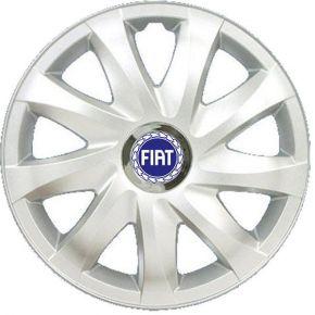 "Wieldoppen FIAT BLUE 16"", DRIFT grijs gelakt 4 stuks"