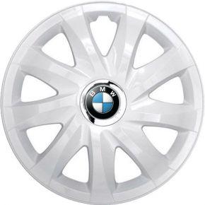 "Wieldoppen BMW 14"", DRIFT wit gelakt 4 stuks"