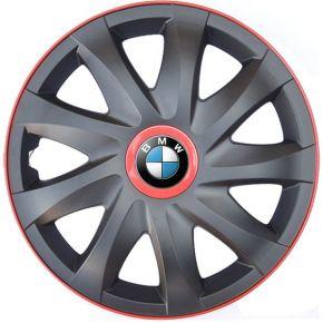 """Wieldoppen voor BMW 15"""", KANDO RACE rood 4 stuks"""