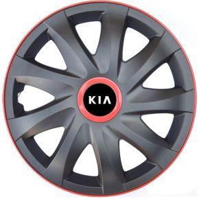 """Wieldoppen voor KIA 15"""", KANDO RACE rood 4 stuks"""