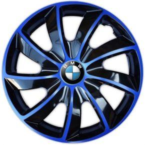 "Wieldoppen BMW 14"", QUAD BICOLOR blauw 4 stuks"
