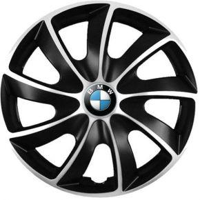 """Puklice pre BMW 14"""", Quad bicolor, 4 ks"""