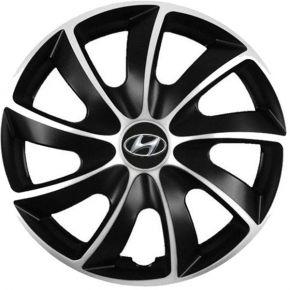 """Puklice pre Hyundai 15"""", Quad bicolor, 4 ks"""