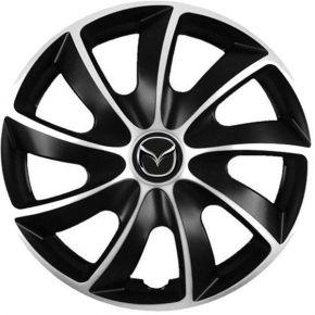 """Wieldoppen voor Mazda 13"""", Quad bicolor, 4 stuks"""