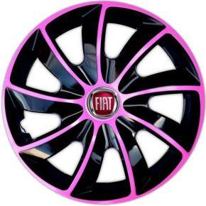 """Wieldoppen FIAT 15"""", QUAD BICOLOR pink 4 stuks"""