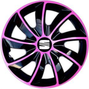 """Wieldoppen SEAT 17"""", QUAD BICOLOR pink 4 stuks"""