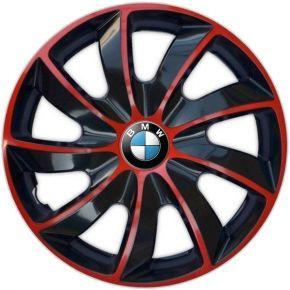 "Wieldoppen BMW 14"", QUAD BICOLOR rood 4 stuks"