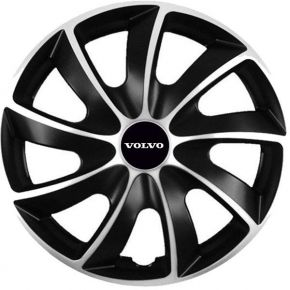 "Puklice pre Volvo 14"", Quad bicolor, 4 ks"
