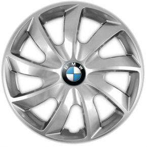 """Wieldoppen BMW 14"""", QUAD grijs 4 stuks"""