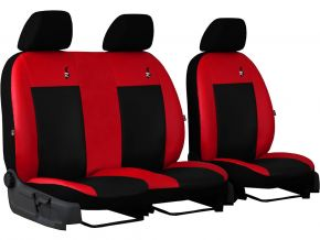 Autostoelhoezen op maat Leer ROAD FIAT DOBLO IV 2+1 (2015→)