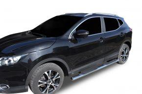 """Bočné nerezové rámy, Nissan Qashqai 2014-2019 4"""" oval"""