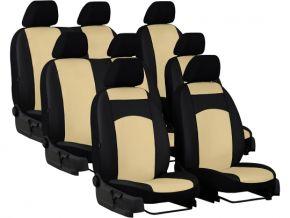 Autostoelhoezen op maat Leer STANDARD PEUGEOT TRAVELLER 8p. (2016-2020)