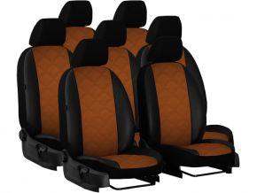 autostoelhoezen op maat Leer (met patroon) MAZDA 5 I 7p. (2005-2010)