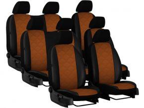 Autostoelhoezen op maat Leer (met patroon) VOLKSWAGEN T6 8m. (2015→)