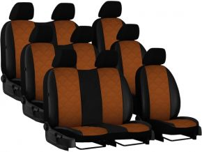 Autostoelhoezen op maat Leer (met patroon) FORD TOURNEO CUSTOM II 9p. (2013-2020)