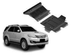 Stalen motorafdekking en koellichaam voor Toyota Fortuner 2,5TD; 3,0TD; 2,7  2007-2015