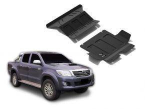 Stalen motorafdekking en koellichaam voor Toyota Hilux 2,5TD; 3,0TD; 2,7  2007-2015