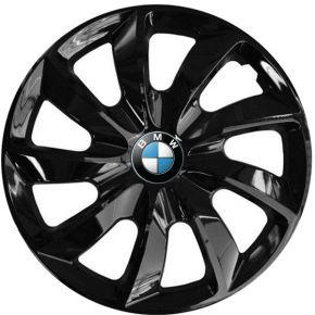 """Wieldoppen BMW 15"""", STIG zwart gelakt 4 stuks"""