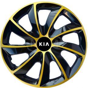"""Wieldoppen voor KIA 15"""", STIG EXTRA goud  4 stuks"""