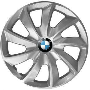 """Wieldoppen BMW 14"""", STIG grijs gelakt 4 stuks"""