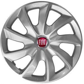 """Wieldoppen FIAT 15"""", STIG grijs gelakt 4 stuks"""
