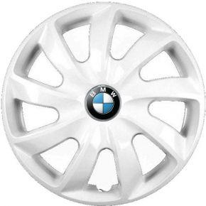 "Wieldoppen BMW 14"", STIG wit gelakt 4 stuks"