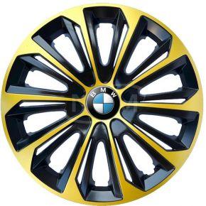 """Wieldoppen voor BMW 15"""", STRONG EXTRA goud 4 stuks"""