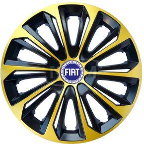 """Wieldoppen voor FIAT 15"""", STRONG EXTRA goud 4 stuks"""
