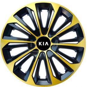 """Wieldoppen voor KIA 15"""", STRONG EXTRA goud 4 stuks"""