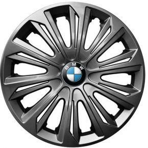 "Wieldoppen BMW 16"", STRONG grafiet gelakt 4 stuks"
